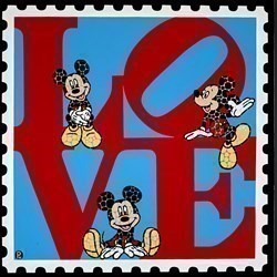 Love Mickey by Paul Normansell -  sized 24x24 inches. Available from Whitewall Galleries